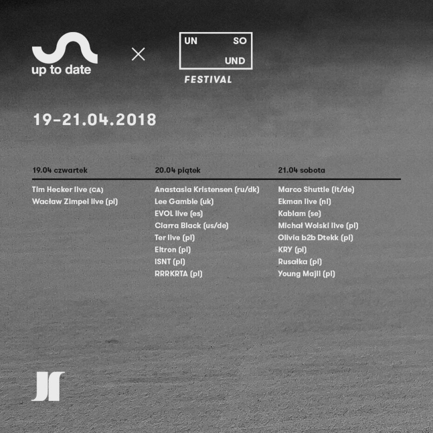 Unsound i Up To Date Festival połączą siły w Warszawie