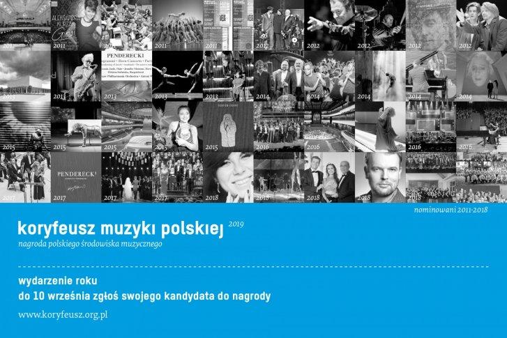 Koryfeusz Muzyki Polskiej 2019 - zgłoś kandydaturę do 10 września!
