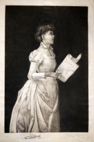 Girl singing, Frederick M. Spiegle