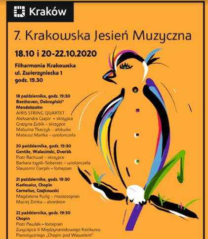 Siódma edycja Krakowskiej Jesieni Muzycznej [koncert inauguracyjny przeniesiony na inny termin!]