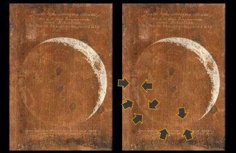 Fazy księżyca. Rys. Maria Clara Eimmart, bohaterka artykułu Universum kobiet w Presto #26