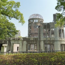 A-bomb Building in Memory Park in Hiroshima. photo: Kinga Wojciechowska